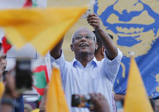 Ibrahim Mohamed Solih, le 24 septembre à Malé.
