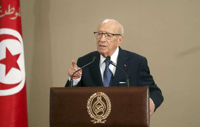 Le président tunisien Béji Caïd Essebsi, à Tunis, le 13 août 2018.
