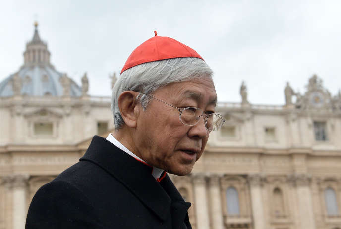 Joseph Zen Ze-kiun au Vatican, en 2013.