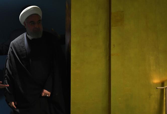 Le président de la République islamique d'Iran, Hassan Rohani, aux Nations unies, le 24 septembre.