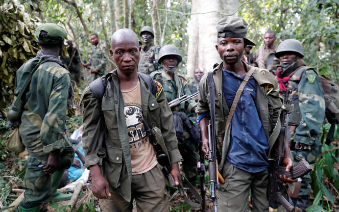 Des soldats congolais ont pris le contrôle d'un camp du groupe djihadiste des Forces démocratiques alliées (ADF), près de Kimbau, dans le Nord-Kivu, le 19 février 2018.
