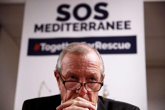 Francis Vallat, président de l'ONG SOS Mediterranée France le 24 septembre.