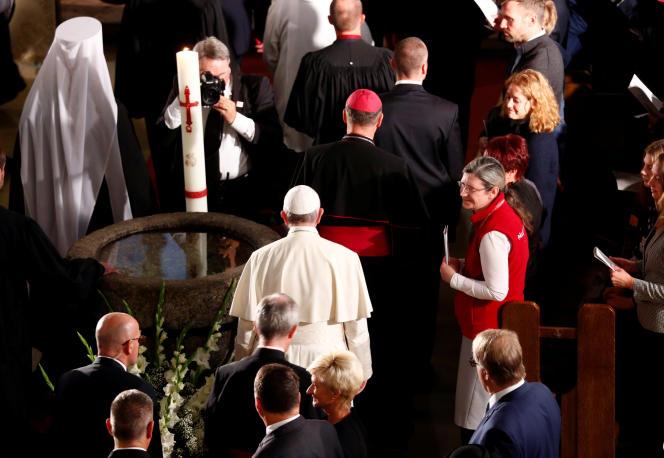 Le pape François, lors d'une visite à Riga, le 24 septembre