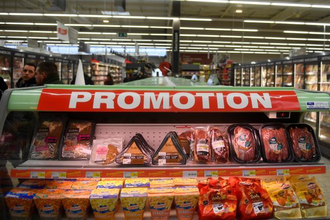 Une promotion dans un Intermarché de Liffré (Ille-et-Vilaine), en février.