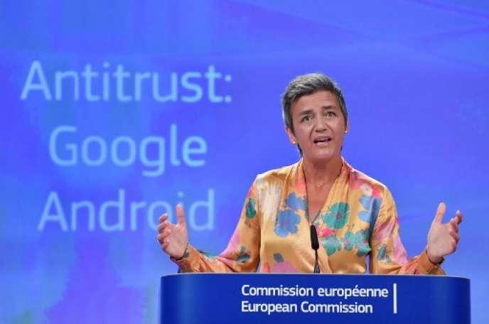 Margrethe Vestager, commissaire européenne à la concurrence, le 18 juillet.