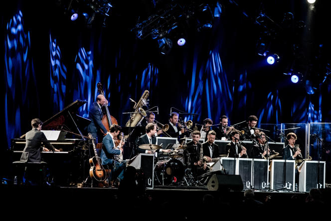 L'Umlaut Big Band au festival Jazz in Marciac, le 7 août 2018.