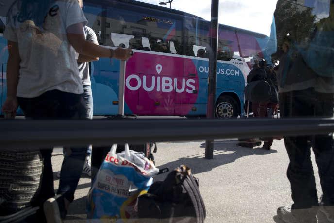 Un Ouibus, à Paris, le 4 septembre 2015.
