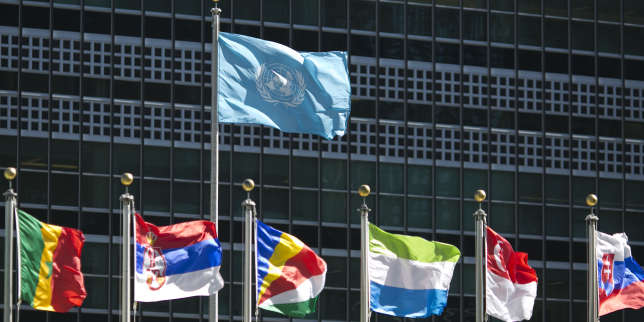 (FILES) In this file photo taken on September 24, 2015 international flags fly in front of the United Nations headquarters before the start of the 70th General Assembly meeting. North Korea and Iran will dominate this week's gathering of world leaders at the United Nations, where President Donald Trump will be in the spotlight as he continues to upend global diplomacy. After warming up to North Korean leader Kim Jong Un and ditching the Iran nuclear deal, the unpredictable Trump takes the podium on September 25, 2018 to face foes and increasingly uneasy allies at the UN General Assembly. / AFP PHOTO / DOMINICK REUTER