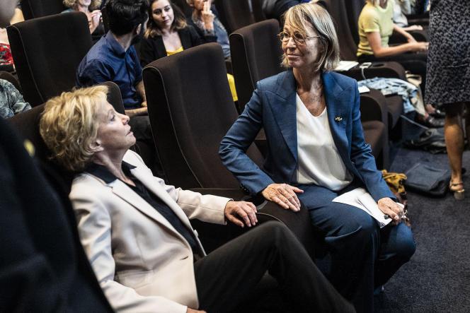 Françoise Nyssen, ministre de la culture, lors des Assises sur la parité, l'égalité et la diversité dans le cinéma français, à Paris, le 20 septembre 2018.