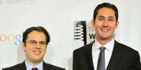 Mike Krieger (à gauche) et Kevin Systrom, les deux fondateurs de la plate-forme Instagram.