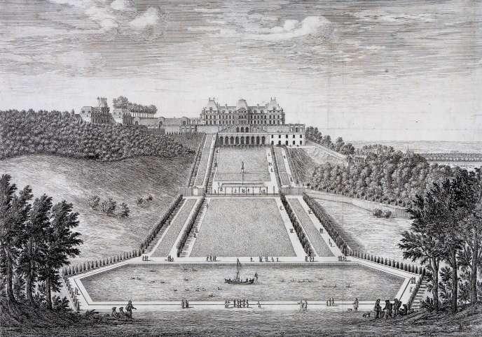 « La Grande Perspective de Meudon vue depuis le tapis vert», par Israël Silvestre (vers 1688).