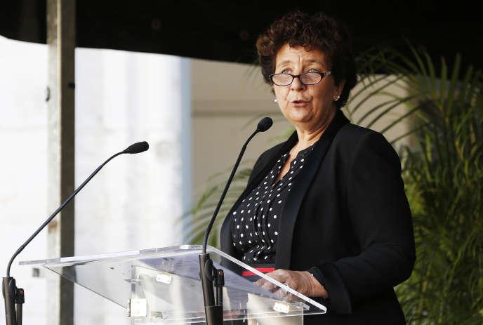 La ministre de l'enseignement supérieur, Frédérique Vidal, au lycée Pierre-Corneille, àRouen, le 24 septembre.
