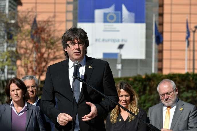 L'ex-président catalan Carles Puigdemont, le 25 septembre à Bruxelles.