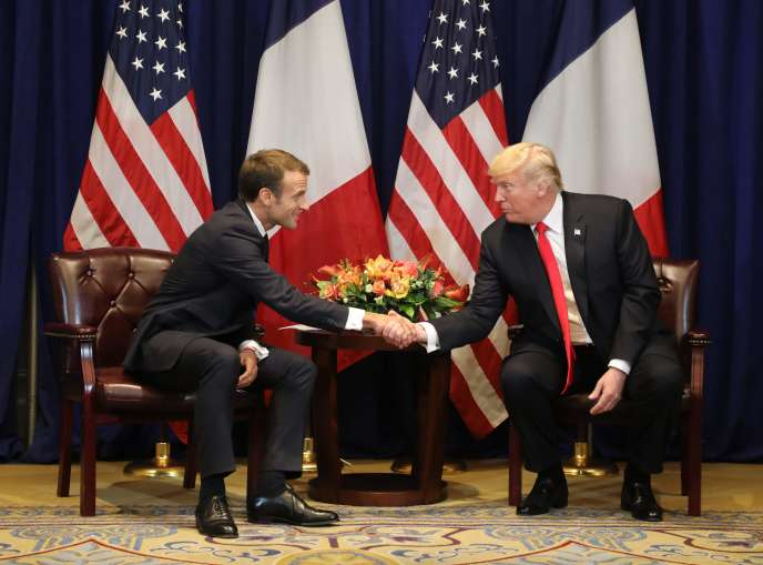 Emmanuel Macron et Donald Trump à New York, le 24 septembre.
