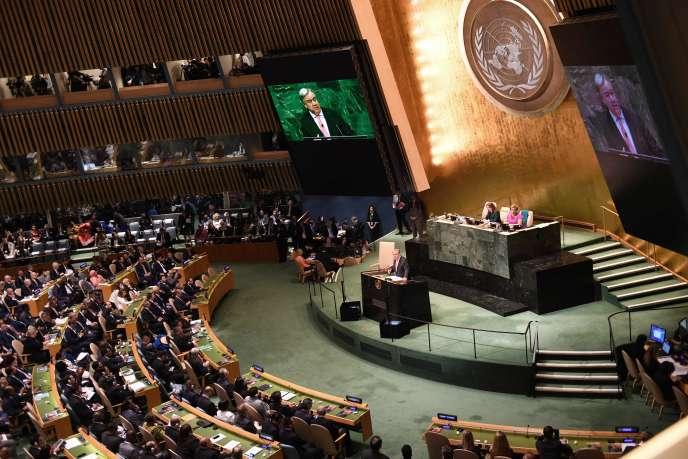 Le secrétaire général de l'ONU, Antonio Guterres, aux Nations unies, à New York, le 25 septembre 2018.