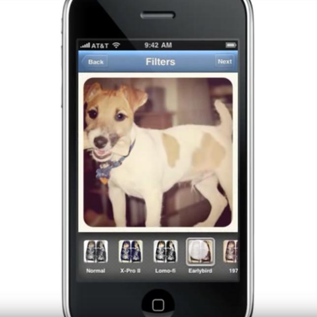 Aperçu de l'une des premières versions d'Instagram, en 2010.