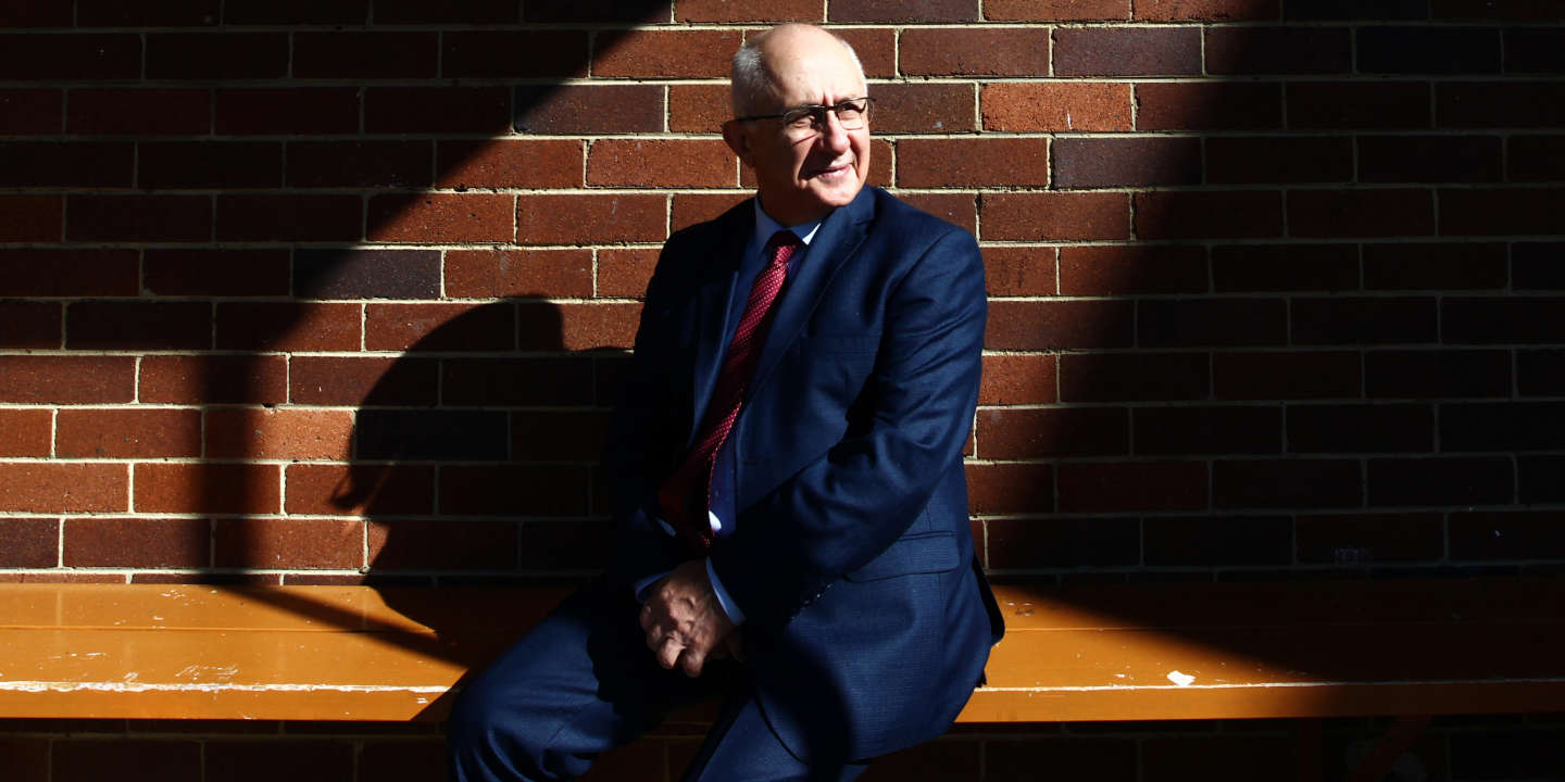 Photograph shows Taner Akcam, Turkish historian and academic who has written extensively on the Armenian Genocide. He is photographed in the Sydney suburb of Chatswood while on his Sydney leg of a world tour talking to the Armenian diaspora. Photograph by Dean Sewell/Oculi for Le monde. Taken Thursday 9th August 2018.