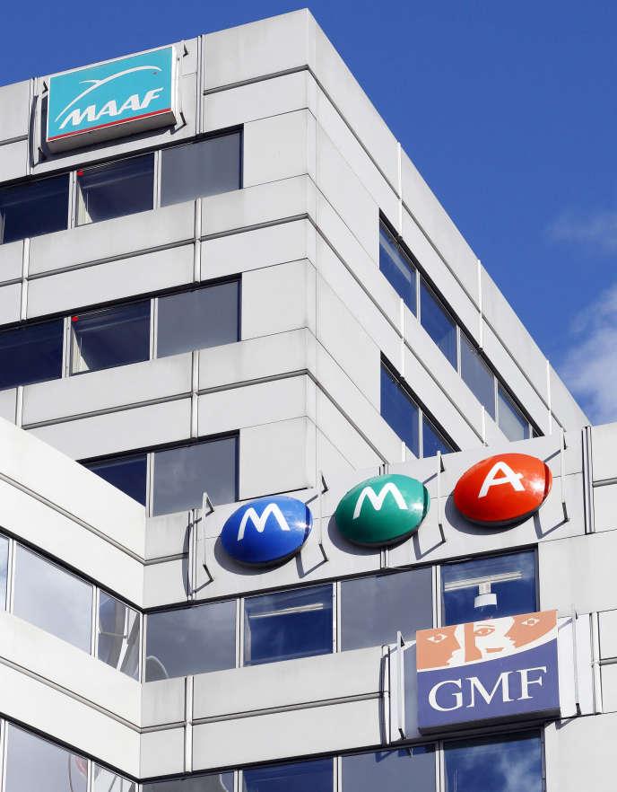 « Les régulateurs du secteur de la banque et de l'assurance reconnaissent sans équivoque l'apport des réserves impartageables des mutuelles et coopératives à leur solidité prudentielle»(Façade des batiments MAAF, MMA et GMF, Paris, XVe).