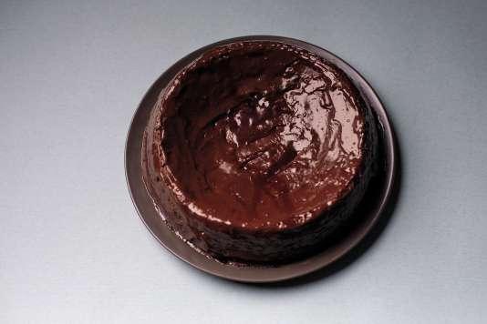 Le gâteau au chocolat sans farine.