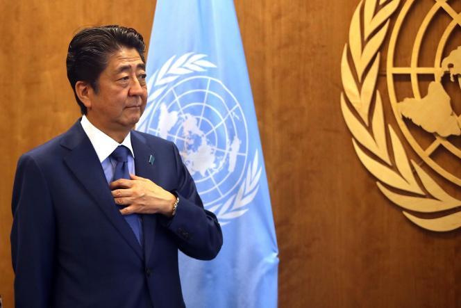Shinzo Abe, le premier ministre japonais, aux Nations unies, le 25 septembre.