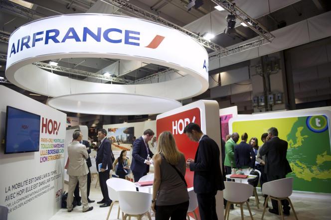 Stand d'Air France au salon du tourisme IFTM Top Resa, à Paris, le 23 septembre 2014.
