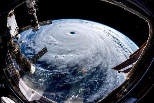 Le typhon Trami vu de la Station spaciale internationale.