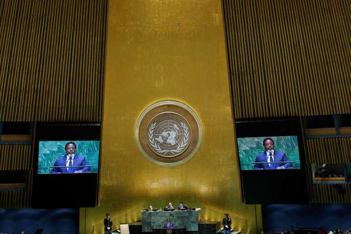 Joseph Kabila devant l'Assemblée générale des Nations unies, le 25 septembre.