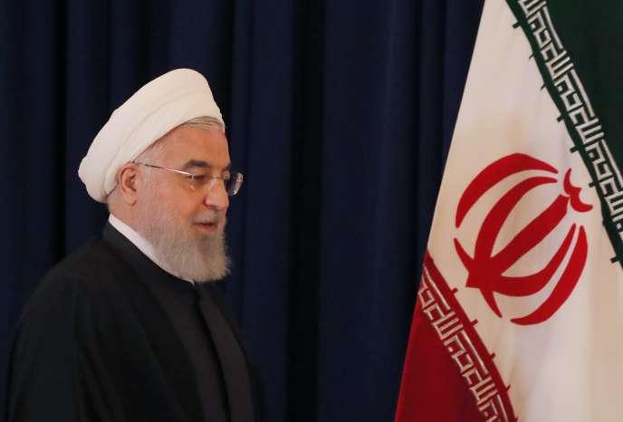 Hassan Rohani, le président iranien, à l'Assemblée générale des Nations unies, le26septembre.