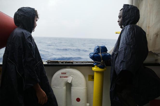 A bord de l'« Aquarius», le 25 septembre.