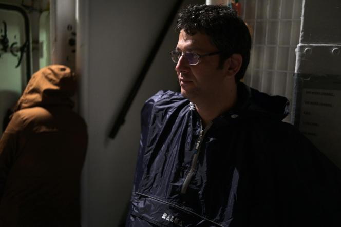 A bord de l'«Aquarius», le 25 septembre, Mazen, 38 ans, originaire de Damas. Il est parti avec sa femme dans la nuit du 22 au 23 septembre avec 47 autres personnes.