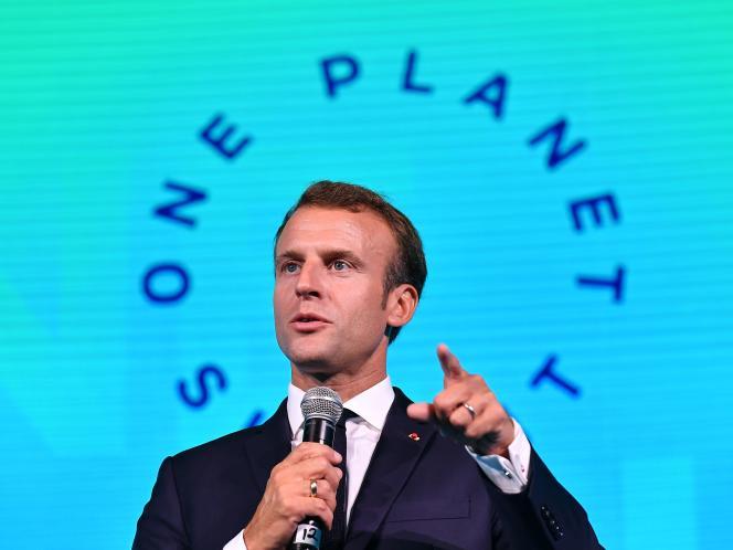 Emmanuel Macron, lors du One Planet Summit, à New York, le 26 septembre.