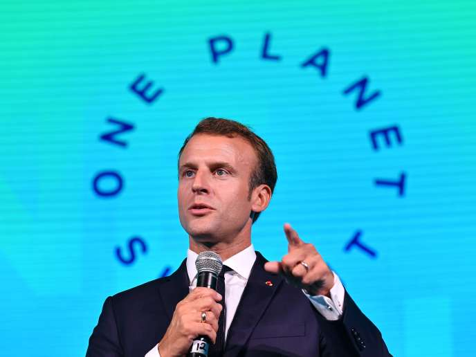 Emmanuel Macron, lors du One Planet Summit, à New York, le 26 septembre.