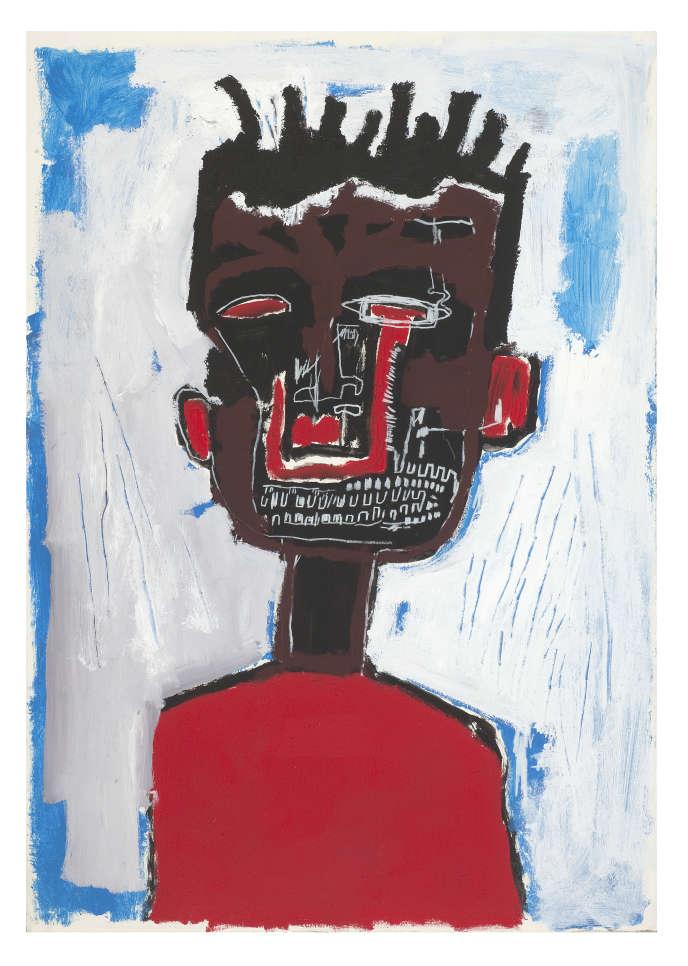 « Autoportrait» (1984), par Jean-Michel Basquiat, acrylique et crayon gras sur papier marouflé sur toile, collection Yoav Harlap.