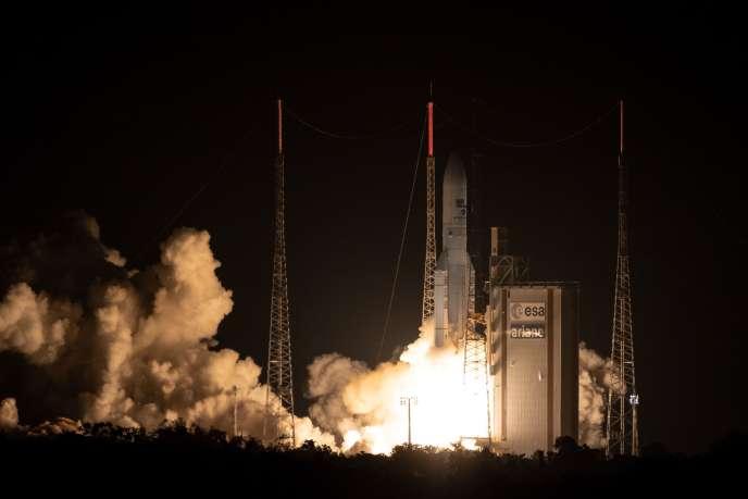 Le 100e tir de fusée Ariane 5 depuis Kourou, le 25 septembre.