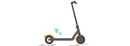 Une trottinette à propulsion électrique.