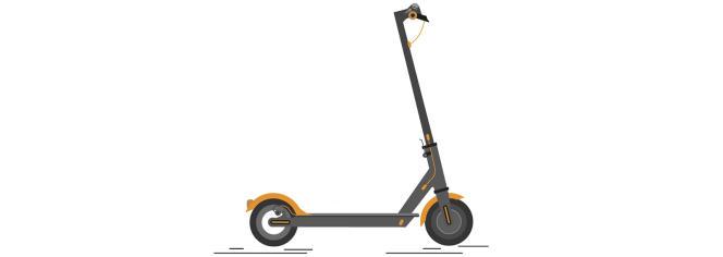 Une trottinette à propulsion exclusivement musculaire.