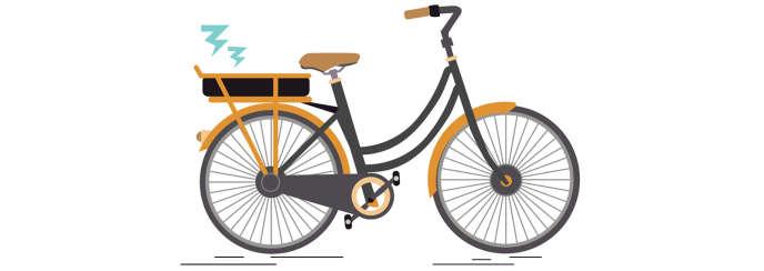 Un vélo à assistance électrique. Le VAE est cinq fois plus cher à l'achat (1535euros en moyenne) qu'un vélo standard.