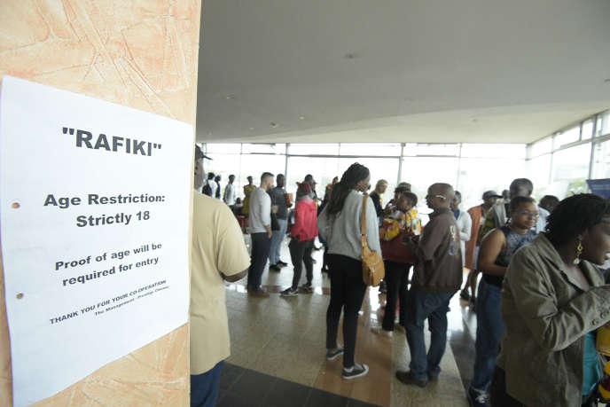 Dans le hall du Prestige Plaza, l'un des cinq cinémas au Kenya à diffuser le film«Rafiki» de Wanuri Kahiu, dont la censure a été levée entre le 23 et le 29 septembre 2018.