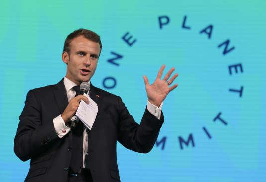 Emmanuel Macron, au One Planet Summit, à New York, le 27 septembre.