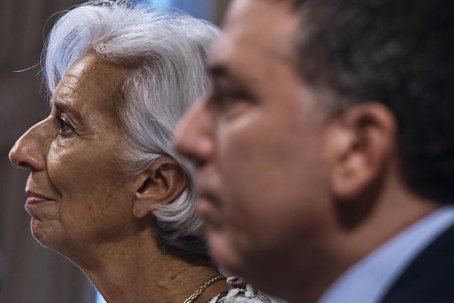 Le ministre de l'économie argentin, Nicolas Dujovne, et la directrice du FMI, Christine Lagarde, le 26 septembre.