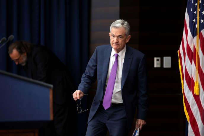 Le président de la Fed, Jerome Powell, lors de sa conférence de presse, à Washington, le 26 septembre.