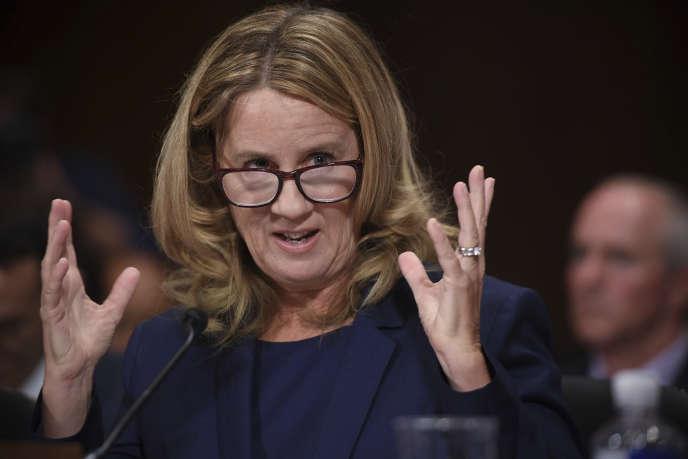 Christine Blasey Ford a témoigné devant le Sénat, jeudi 27 septembre.