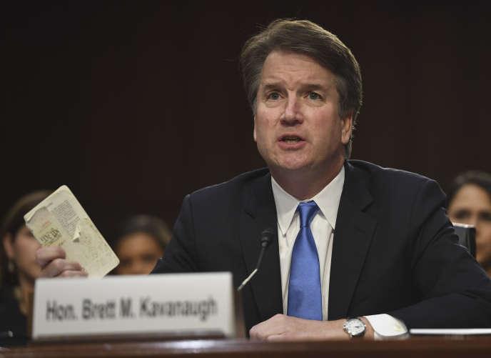 Le juge Brett Kavanaugh témoigne devant la commission du Sénat, à Washington le 5 septembre.