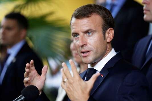 Discours du président Emmanuel Macron, le 27 septembre, à Fort-de-France.