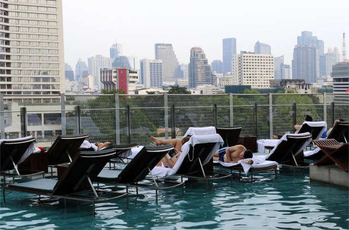 Dans un hôtel à Bangkok, en Thaïlande.