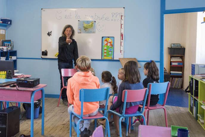 Une classe dans une école de Quiberon (Morbihan), le 3 septembre.