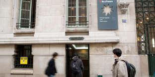 L'entrée du lycée Louis-le-Grand, le 13 janvier 2011.