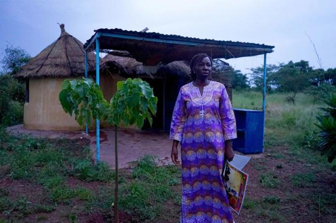 Blandine Sankara sur sa ferme Yelemani, à Loumbila, près de Ouagadougou, au Burkina Faso, en septembre 2018.