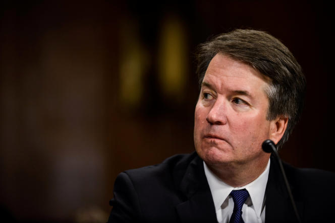 Brett Kavanaugh lors de son audition devant la commission judiciaire du Sénat américain, le 27 septembre 2018, à Washington.
