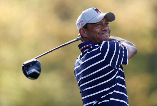 Le golfeur Tiger Woods n'a guère brillé pendant la première journée de la Ryder Cup.